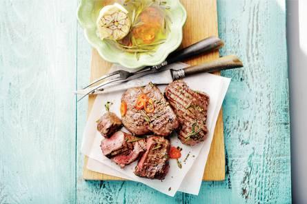 Biefstuk met pikante olie