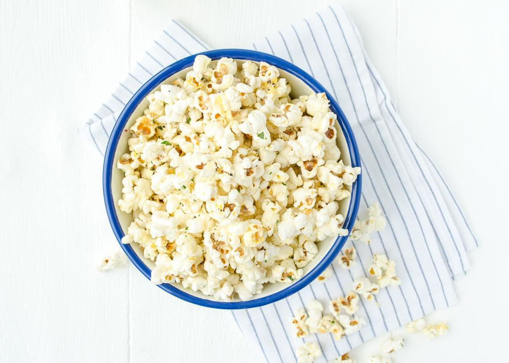 Truffel popcorn met parmezaan
