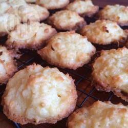Kokosmakronen met witte chocola recept