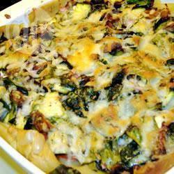 Sausloze lasagne met tuingroenten recept