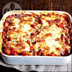 Italiaanse aubergine/mozarellaovenschotel recept