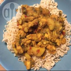 Curry met kip en kokos recept