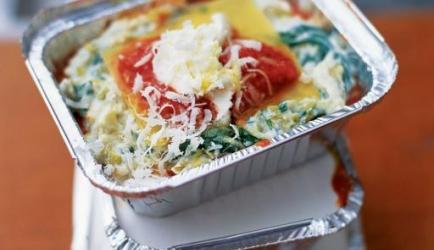 Zoete prei, ricotta en tomaten lasagne recept