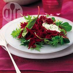 Rode bieten met dressing van mierikswortel recept
