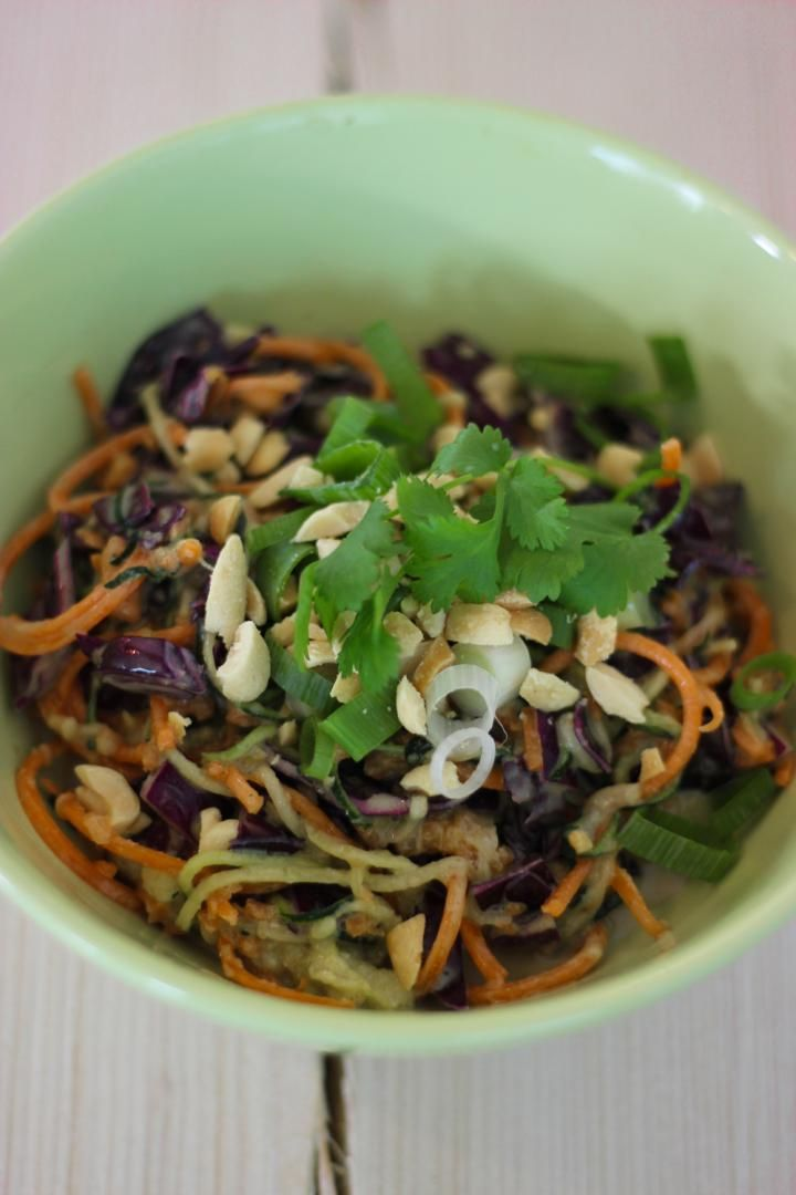 Recept 'raw pad thai'