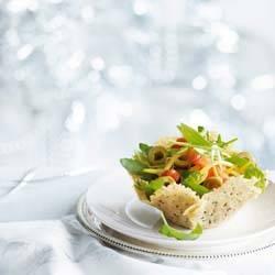 Kaasbakje met italiaanse salade recept