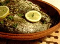 Forel op een groentenbed in de visrömertopf recept