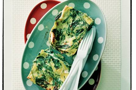 Lasagne met ricotta en spinazie