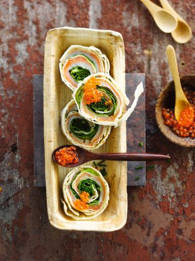 Recept 'wrap met gerookte vis'