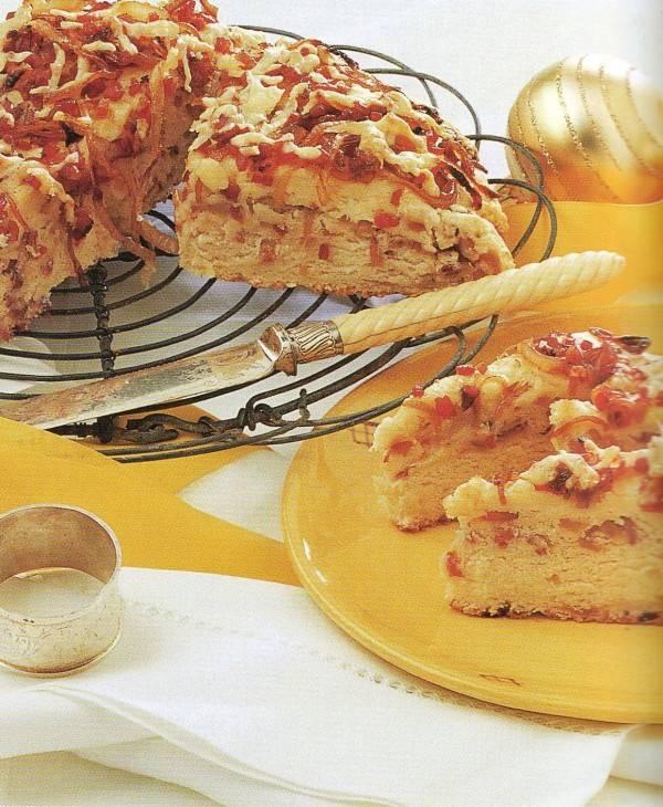 Eigen gebakken ham/kaas/uienbrood recept