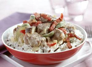 Lamsstoofpotje met spekjes en ratatouille recept