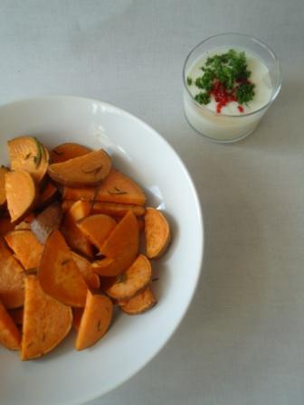 Geroosterde zoete aardappel uit de oven