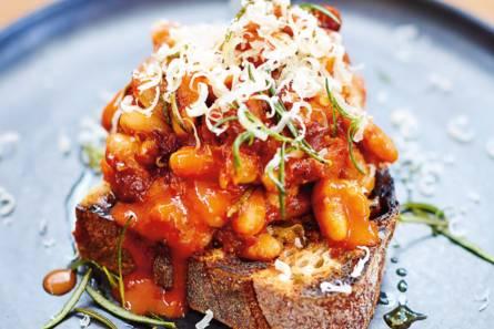 Jamie oliver's bonen op toast