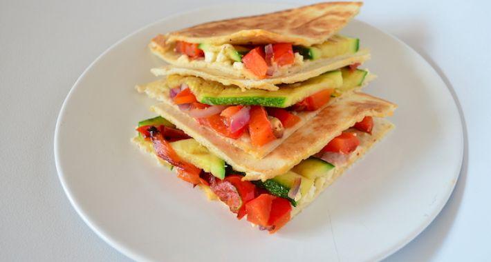 Quesadillas met gegrilde groente