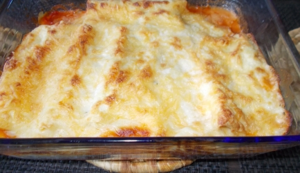 Super canneloni met spinazie gehakt en mozzarella en room ...