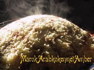 Seffa van vermicelli (zoet gestoomd marokkaans nagerecht)met ...