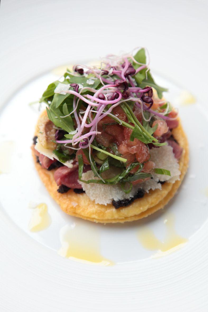 Recept 'taartje van tonijn en tomaat'