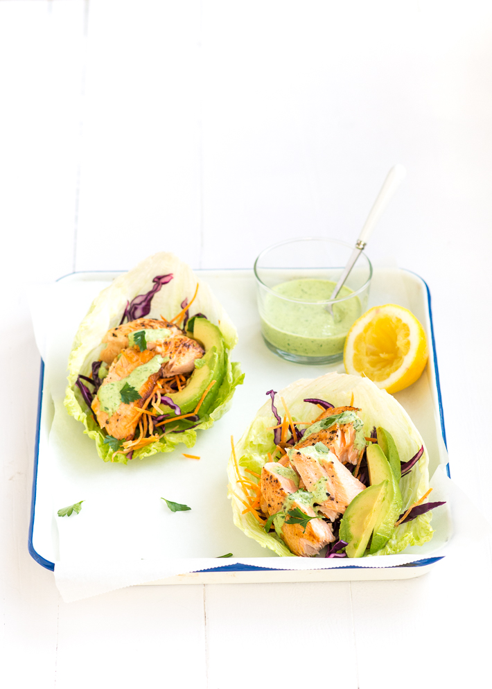 Fresh & easy: sla wraps met zalm