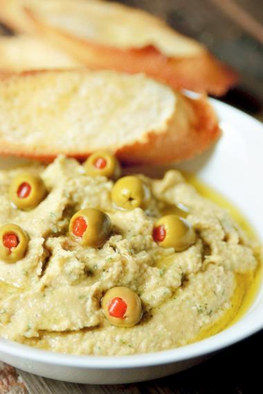 Recept 'hummus met aubergine'