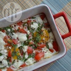 Eieren met tomaat en geitenkaas uit de oven recept