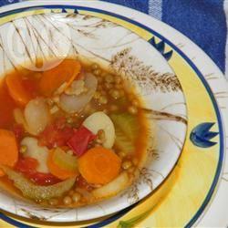 Groentestoofpot met kastanjes en linzen recept