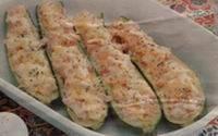 Courgettes gevuld met ham en roomkaas recept