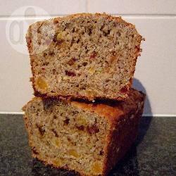 Bananenbrood  lekker, low-fat, high-fibre recept