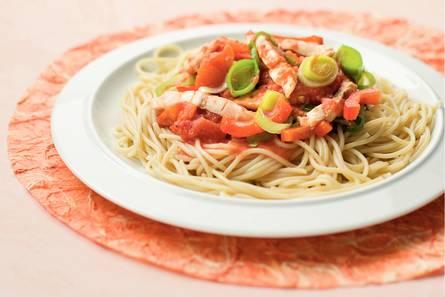 Spaghetti met vissaus