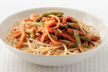 Shoarma-spaghetti