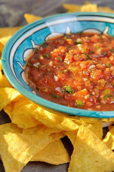 Recept 'pikante tomatensalsa'