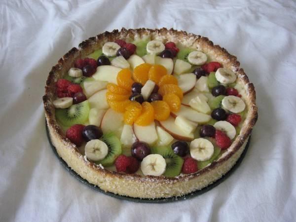 Vruchtentaart met harde bodem recept
