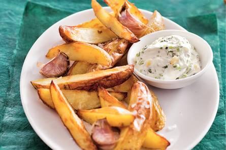 Aardappel met knoflookcrème