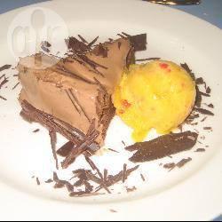 Chocolade kastanjetaart met mangosorbet recept