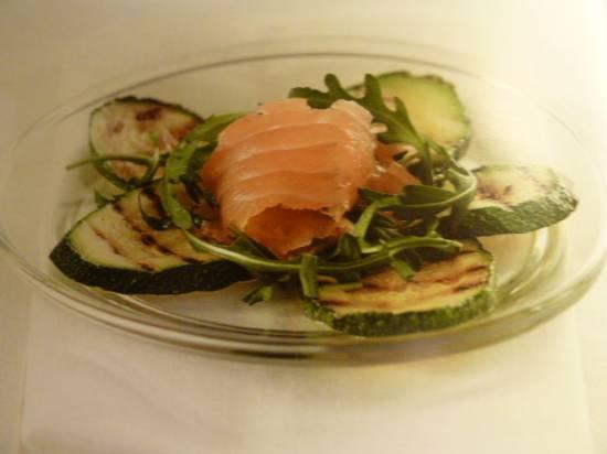 Zalm carpaccio met gegrilde courgette recept