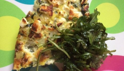 Bloemkool spinazie fritatta recept