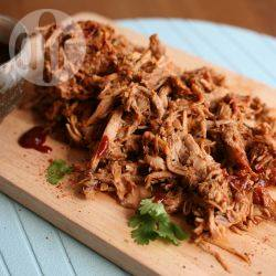 Pulled pork uit de slowcooker recept