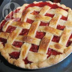 Mijn eerste aardbeien-rabarbertaart recept