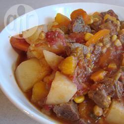 Vijf uur rundvlees en paddestoelen stoofpot recept