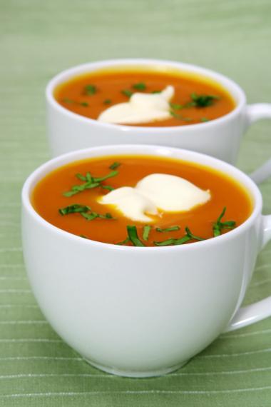 Recept 'kruidige pompoensoep met gember'