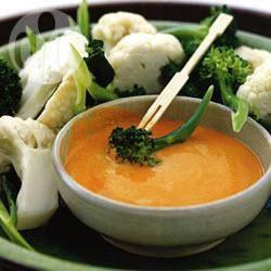 Broccoli en bloemkool met romige saus recept