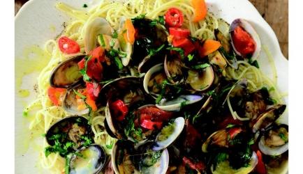 Spaghetti vongole recept