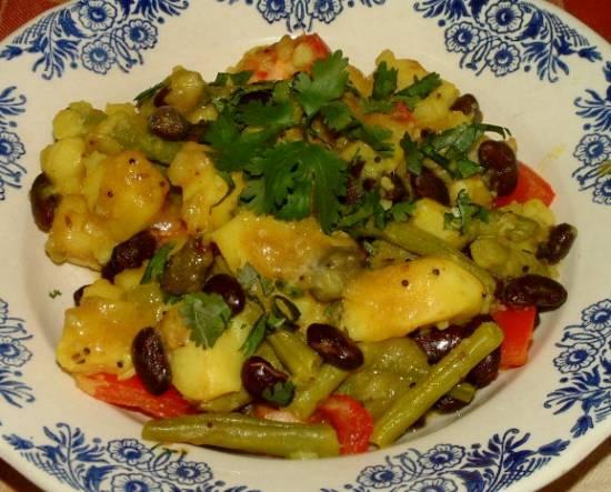 Indiase sperziebonen met aardappel kerrie recept