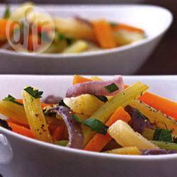 Gestoofde wortel, bleekselderij en venkel recept
