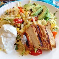 Mexicaanse maaltijdsalade met kip recept