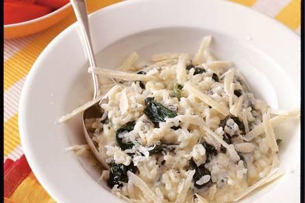 Spinazierisotto met gorgonzola
