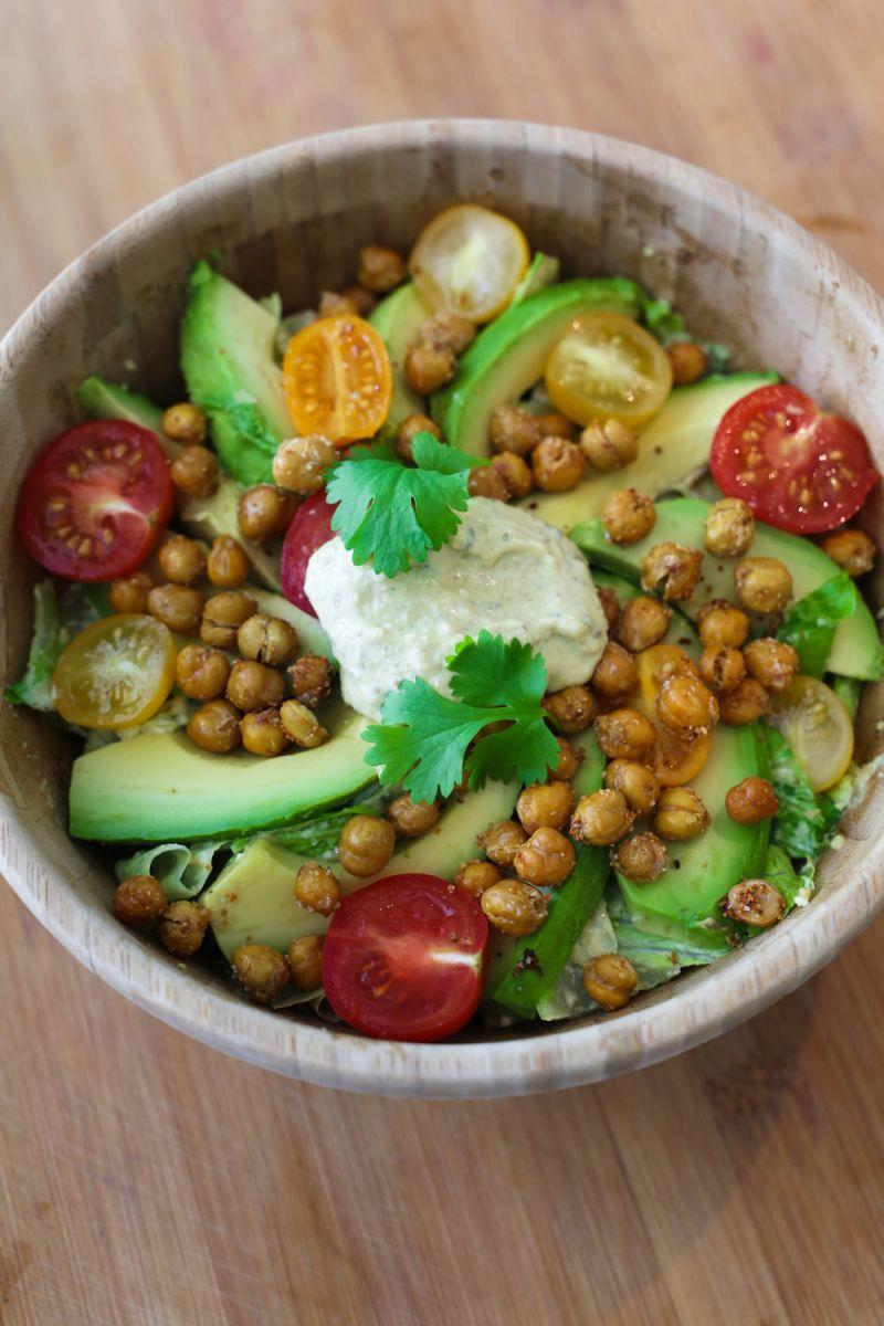 Recept 'vegan caesar salade'