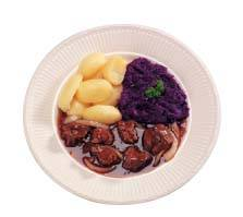 Hazepeper met rode kool en aardappelpuree recept