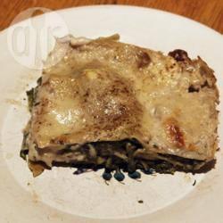 Lasagne met spinazie en gorgonzola recept