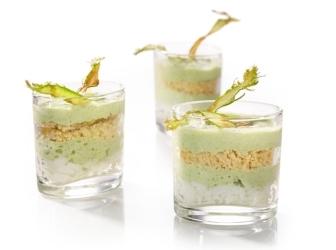 Espuma van groene asperges met laagjes eiwit en eigeel. recept ...