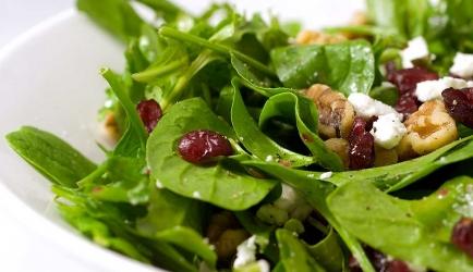 Salade met geitenkaas en cranberries recept